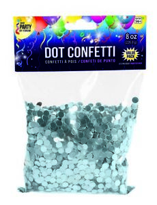 8oz Bag Round Circle Sequins Dot Confetti Party Glitter Shiny Metallic Color