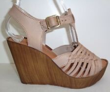 Kenneth Cole Reaction Size 6.5 M CAPELLINI Taupe Wedge Sandals New Womens Shoes
