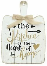 Wooden Serving Paddle Decorative Sign ~ Kitchen Is The Heart Of The Home Plaque