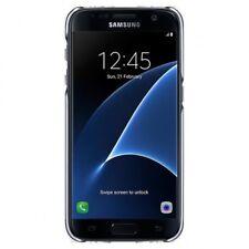 Funda carcasa original oficial para Samsung S7 Clear Cover negra EF-QG930
