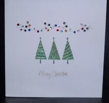 Handmade Crystal Lights Christmas Card