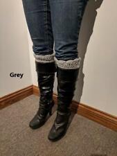 Crocheted Boot Cuff, Leg Warmer Socks