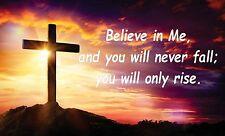 Believe God Jesus Christ Faith Car Window Vinyl Bumper Sticker Decal