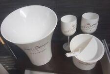 MOET CHANDON SET ice bucket, ice cube tray, mint shelf, scoop,4 goblets
