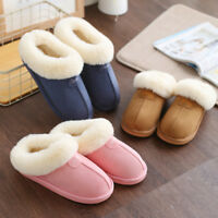 Men Women Couple Indoor Home Shoes Soft Winter Warm Antiskid Slippers Soft Plush