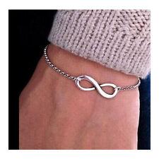 Infinite Bracelet for Men Women Accessories Jewelry Bracelets Bijoux Cute Silver