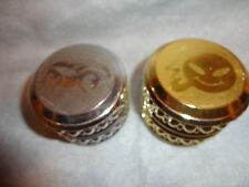SET OF 2 DRAGON SMOKING HAPPY FACE HERB & SPICE GRINDER HAND MULLER 3 PIECE