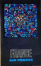 Affiche Air France 1970 Raymond Pagès France Draeger