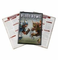Blood Bowl 2016 - The Official Rule Book + Quick Reference Sheets x2 NEW SEALED
