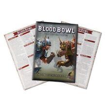 Blood Bowl 2016-el libro de regla oficial + Hojas de referencia rápida x2 Nuevo Sellado