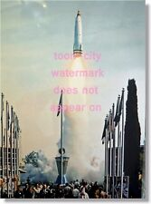 Disneyland 8x12 color photo First Launch of TWA Moonliner Tomorrowland 1957