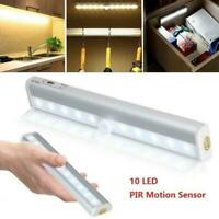 USB Rechargeable/Battery Powered PIR Motion Sensor 10LED Light Night Wardro C0R4