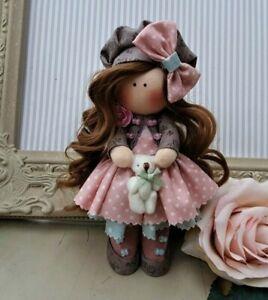 Rag doll handmade in the UK Tilda doll Ooak doll Cloth doll ELLA 6 inch tall