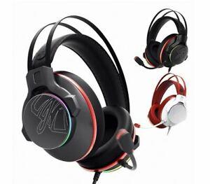 ABKO Hacker N995 Vibration Gaming Headset ENC Virtual 7.1 RGB USB LED Light