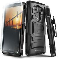 LG V10 Case, Evocel Rugged Holster w/ Kickstand & Belt Clip + Screen Saver