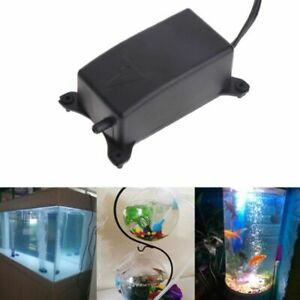 Aquarium Air Pump Efficient Fish Tank Pond Silent Noiseless Oxygen With EU Plug