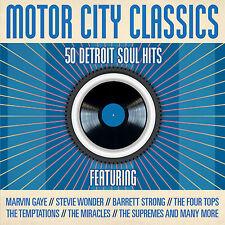 2 CD BOX MOTOR CITY CLASSICS DETROIT SOUL HITS GAYE WONDER MIRACLES MARVELETTES