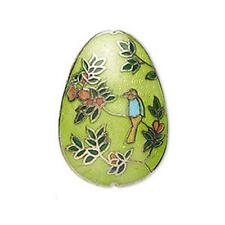 7645 Cloisonne Oval Bead Multi 36mm sold per bead *UK EBAY SHOP*