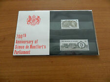 1965 700th ANNIVERSARY OF SIMON DE MONTFORT'S PARLIAMENT PRESENTATION PACK(6)MNH
