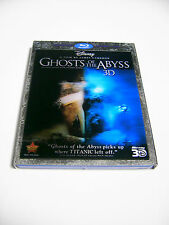 Disney GHOSTS OF THE ABYSS 3D Blu-ray DVD Combo Pack TITANIC Diving Documentary
