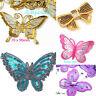 Patch Schleife Applikation Aufbügler Aufnäher  Viele Farben Größen Schmetterling