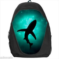 Shark Jaws Silhouette School College Backpack Bag