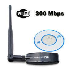 Wireless USB 802.11b/g/n WiFi Network Card LAN Adapter +External Antenna 300Mbps