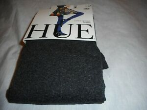 N/W/B Hue Woman Graphite Heather Super Opaque Tights Size 2