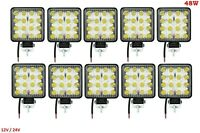 10x 48W LED 105x105cm 4320 lm Arbeitscheinwerfer 16LEDs Flutlicht Nebel Strahler