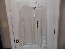 """Women""""s-Gap-Light Gray-sheer-summer-sweater-shirt-size X-Large NWT"""