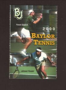 Baylor Bears--2000 Tennis Pocket Schedule