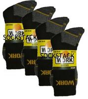 12 Pairs Mens Ultimate Work Boot Socks Size 6-11 Cushion Sole Reinforced Toe