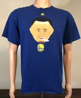Majestic Golden State Warriors Stephen Curry Face Emoji T-Shirt Size Large L