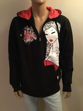 Tokidoki TKDK 10th Anniv.Tattooed Lady Men's Full Zip Hoodie Size XL