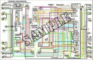 11 x 17 COLOR Wiring Diagram for Datsun 1600 (SPL311) & 2000 (SRL311) 1969 1970