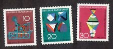 West Germany: Scientific Anniversaries (3rd series); complete mounted mint set