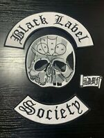 Black Label Society BLS Biker Cut 4 Iron On Patch Set Biker Patches Jacket