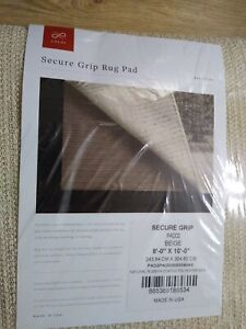 Loloi 8' x 10' Secure Grip Rubber Rug Pad Beige NEW