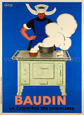 BAUDIN, 1933, by Cappiello Vintage Chef Cuisine Advertising Canvas Print 20x27