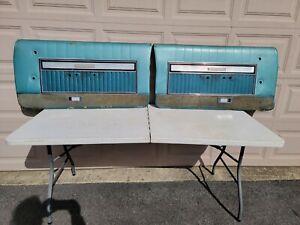1966 FORD GALAXIE  DOOR PANEL  SET VINYL USED OEM 352 390 427 428 Blue 2 Door