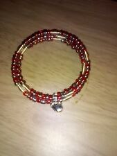"LOVELY ""MEMORY WIRE REDS HANDMADE BRACELET /MOTHERS DAY/BIRTHDAY/VALENTINES"