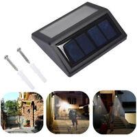 Top Quality 6 LED Solar Power Light Motion Sensor Wall Outdoor Step Garden Lamps
