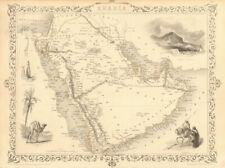 ARABIA. Deba (Dubai) Abothubi (Abu Dhabi) Oman Kuwait. TALLIS & RAPKIN 1851 map