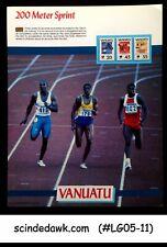 VANUATU - 1988 OLYMPIC GAMES / 200M SPRINT PANEL MNH