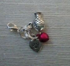 Cat Collar Charms:  Fish, Pink Bell and Heart