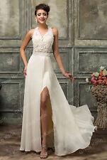 Damen Abendkleid Brautkleid lange Spitze Kleid Cocktailkleid