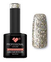QCYZ-006 VB™ Line Diamond White Silver Glitter - UV/LED soak off gel nail polish