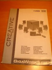 Creative Labs GigaWorks S750 THX Mode D'emploi Documentation User's Guide Manual