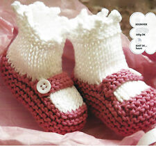 BABY PRAM SHOES KNIT IN HOURS  EASY KNITTING PATTERN BEGINNER  (782)