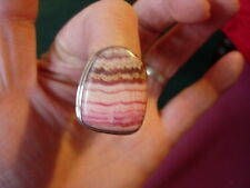 rhodocrosite heavy bling ring